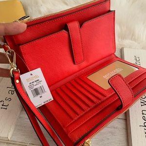 ♥️ red new MK double zipper wallet